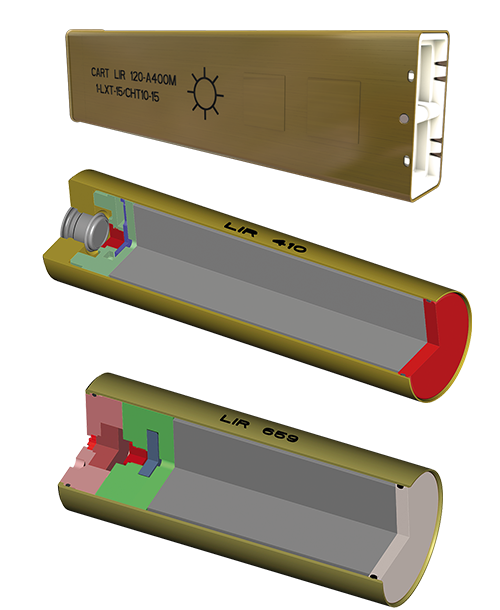 Lacroix Defense Fighters Countermeasures IR cartridges format
